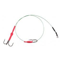 Mikado przypon stalowy-system kotwica i hak X-plode 40cm/10kg green