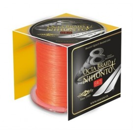 Mikado Plecionka Nihonto Octa Braid 0,10 orange 300m