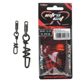Mikado krętlik z agrafką śrubową Black Matt 4 opakowanie 5szt.