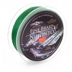 Mikado Plecionka Nihonto Fine Braid 0,16 green 150m