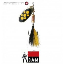 D-A-M błystka obrotowa Effzett Standard dressed 2 - 4g blacky