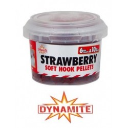 Dynamite Soft Hook Pellets Strawberry 6mm & 10mm